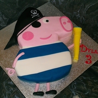 Pirate George Peppa pigs little brother is a pirate!!