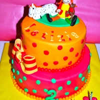 Pippi Longstocking My doughtier loves Pippi, so she wants this cake so much!!!The cake topper is cold Porcelain and the cake ist decorated with fondant.Hope...