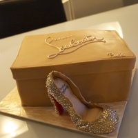 Louboutin Daffodile They asked me to make a Cake for a girl who`s falling in love with Louboutin Shoes.She also have a lot of them but she wants this one, I...