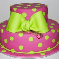 Pinkmaniac Cake Made for the 3. Birthday of my friends Label.She designs very cute cloths and she loves Pink!!! If you want to take a look www.farbgewitter...