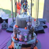 Nightmare Before Christmas This is my version of the popular Nightmare before Christmas cake. This was for a friends wedding. I was a guest at this wedding and I have...