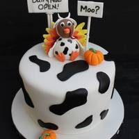 Turkey Farm Closed! I donated this cake to my daughters school for their fall festival cake walk. This cake was SUPER fun to make. Thanks to cc member m_luv...