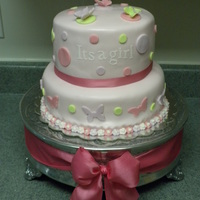It's A Girl Butterfly Baby Shower Cake