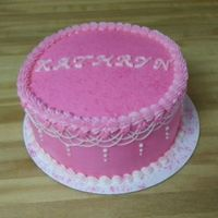 Simple Pink Cake.   Lots of pink for my niece!