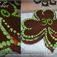 Shamrock Birthday Cake I made this cake for the 30th birthday of my friend working with me in the Irish PubShe loves green and shamrocks and well Irland, so it...