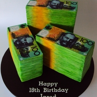Money, Money, Money... $100 Note Cake The Ausrtalian Dollar all yummy Mud Cake