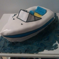 Boater Bob  My friend Bob's birthday was over the weekend, and since we were hoping it would be nice out, he wanted a boat cake It. was cold and...