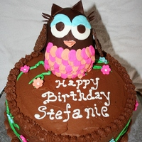 Owl Cake Owl is cake covered/decorated with modeling chocolate.