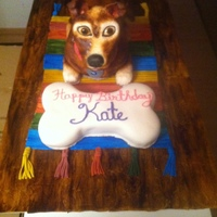 3D Dog With Bone This was my first attempt at a real 3D cake. I made a practice dog and sent the customer a picture before confirming the complex cake with...