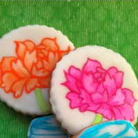 These Are Sugar Cookies Covered In Hand Painted Marshmallow Fondant   These are sugar cookies covered in hand-painted marshmallow fondant.