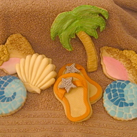 Tropical Cookies Decorated With Fondant   tropical cookies decorated with fondant