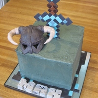Minecraft Amp Skyrim Combination Theme Requested For A Gamers 13Th Birthday Minecraft & Skyrim combination theme requested for a gamer's 13th birthday.
