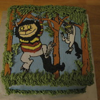 Let The Wild Rumpus Start/where The Wild Things Are Cake Strawberry cake with vanilla buttercream, FBCT.Birthday cake for a friend who loves this book.