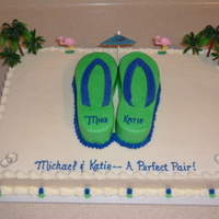 The Perfect Pair Shower cake themed by their honeymoon destination.