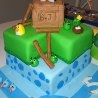 Angry Birds My twin grandsons had seen this cake on cakecentral by kymvanderveeke and wanted me to try it. It's not as grand as hers but they...