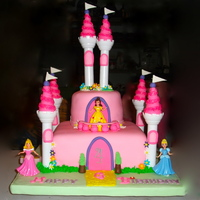 Princess Castle a princess castle cake for my friend's princess....a combination of ideas from CC users and on-line
