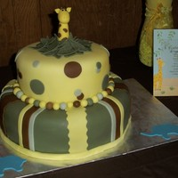 Peek-A-Boo Giraffe Last minute cake for my friends baby shower