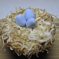 Birds Nest Gluten free chocolate cupcakes with cream cheese frosting and toasted coconut and chocolate eggs