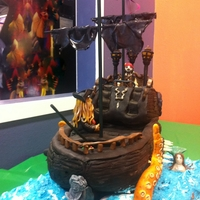 "Pirates Of The Caribbean ""the Black Pearl"" Birthday Cake The Black Pearl"
