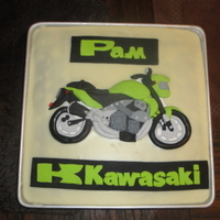 Kawasaki Birthday Cake Small Kawasaki Birthday Cake