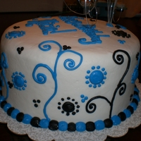 Blue Swirls Cake was dyed blue for the birthday girl's favorite color.