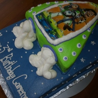 Toy Story Bday Iced in butter cream. Both cakes are chocolate.