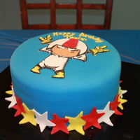 Kick Buttowski Cake Side View Kick Buttowski cake- side view