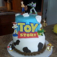 Toy Story Cake Made this cake for my daughter's 2nd birthday.