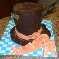 Mad Hatter Alice In Wonderland Chocolate Ganache Amp Fondant Cake Mad Hatter Alice in Wonderland chocolate ganache & fondant cake