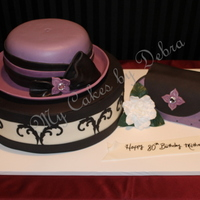 "80Th Birthday Cake ""hat Cake With Hat Box And Purse"" All Cake"