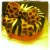 Animal Print Cake Animal print birthday cake for my cousin's birthday. The inside of the cake was also zebra striped.