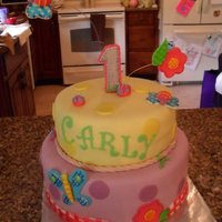 1St Birthday Birthday cake for my niece. Design matched theme of party (plates, napkins, etc.)