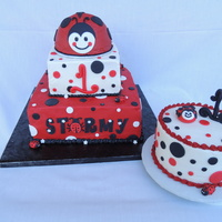 Ladybug Cake A three tier chocolate and vanilla cake for a first birthday. The top tier ladybug is a removable smash cake. The additional cake is...