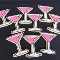 Martini Sugar Cookies Martini themed sugar cookies for a 21st birthday. This girl loves sparkly pink treats! So fun to make!