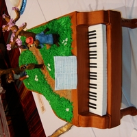 Piano Cake February, 2011 Connecticut Cake Competition Blue-Ribbon winner - Theme of show was 'Things from the South'. Cake dummy with...