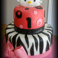 Hello Kitty- Zebra And Pink