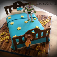 Toy Story Bed Cake buzz and woody are toys