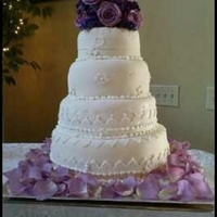 Lace Wedding Cake Lace wedding cake. Sorry picture isn't that good. It was taken with a cell phone