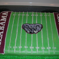 Alabama Football Cake This is a Bama football cake. The person wanted it for his granddaughter who likes Bama football and Spongebob Squarepants. So he wanted...