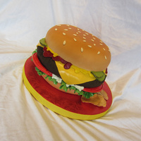 Hamburger Sculpted cake done for a customer for today.
