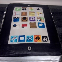 Ipad Cake I made this cake for my friend's husband's birthday... he LOVES his ipad! Vanilla cake with vanilla BC, decorated with fondant...