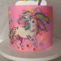 Rainbow Majesty Rainbow Majesty cake for my daughter's birthday. It was after her favorite school folder from Lisa Frank. The inside was layered with...