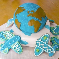 Voyage Around The World Baby Shower Cake   June 2008