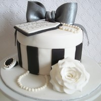 Present Box Cake all accessories are gumpaste