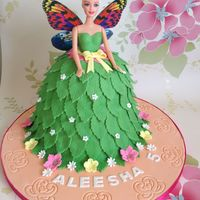 Tinkerbell Doll Cake With A Twist