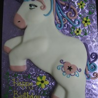 Unicorn Birthday Cake You can't see the horn clearly on the first picture, but this is a Unicorn birthday cake I made for my little cousin. I sketched and...