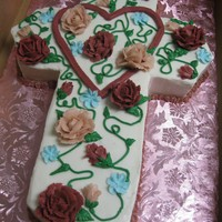 Baptism Cake  I know it's categorize in first communion, but I couldn't find a baptism section? Anyway, I designed this cake to match the...