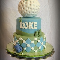 Luke's Golf Birthday Cake This is a birthday cake made for son's mini golf party. It is my version of the amazing cake made by the English cake lady. He...