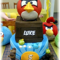 Angry Birds Cake This is an Angry Birds Cake for my son's 5th Birthday. The inspiration came from multiple cakes found here on cake Central....