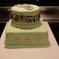 Army Baby Shower Cake My friend is due at the end of August and her husband is currently deployed. She really wanted a cute, army themed cake. This was my first...